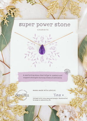 Super Power Stone Necklace in Charoite