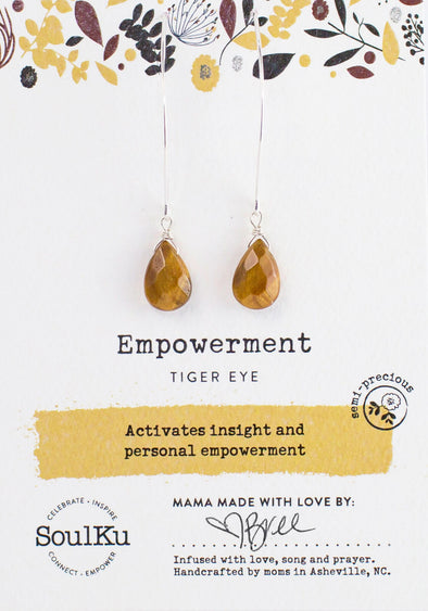 Tiger Eye Soul-Full of Light Long Earrings for Empowerment