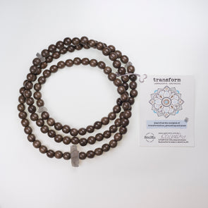 Labradorite & Greywood Transform MALA (unisex)