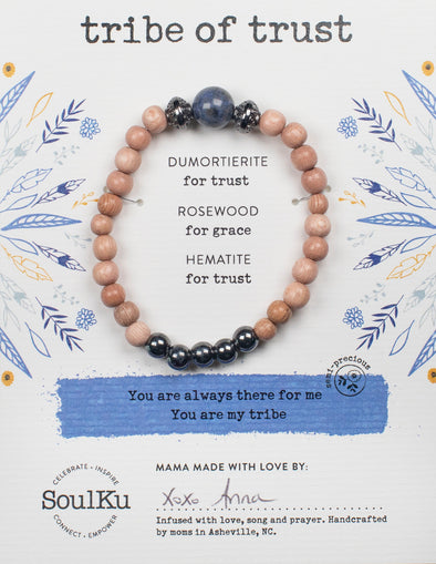 Dumortierite Gemstone TRIBE of Trust Bracelet