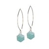 Amazonite Sacred Geometry Silver Earrings for Courage