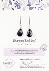 Black Onyx Soul-Full of Light Long Earrings for Stress Relief