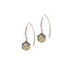 Labradorite Sacred Geometry Gold Earrings to Transform