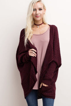 Cozy Cuddles Sweater  : Cabernet