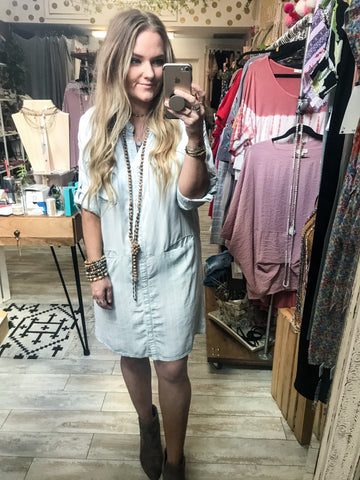 Next In Line Denim Dress