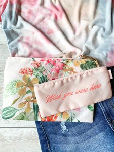 Wish You Were Here Pouch Set