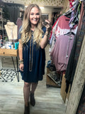Too Cute for You Babydoll Dress : Navy