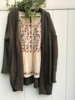 Bonfire Bliss Sweater : Dark Olive