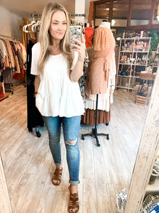 Let's Hang Tiered Top : White