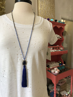 Shooting Star Tassel Necklace : Royal