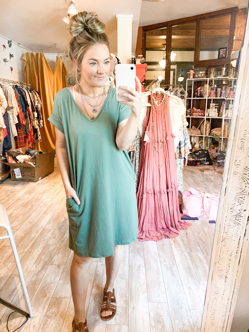 Eva Shirt Dress : Olive