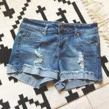 Crossroads Distressed Shorts