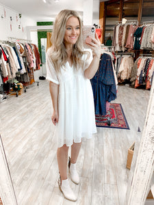 Cute As Can Be Dress : White
