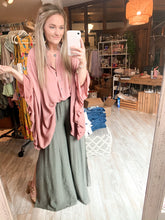 Load image into Gallery viewer, Must be Love Ruffled Button Up : Dusty Blush