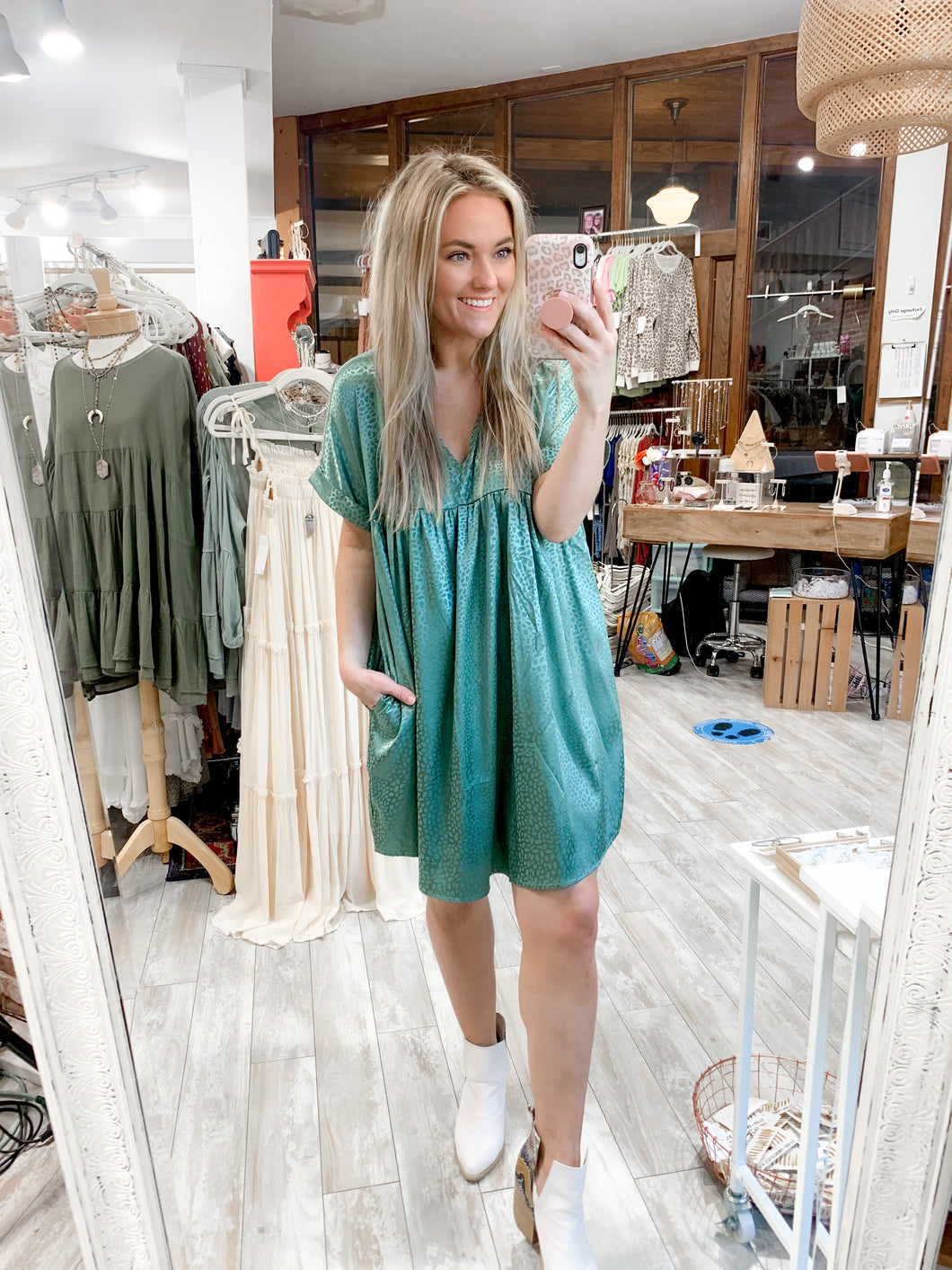 Always Wild Swing Dress : Mint