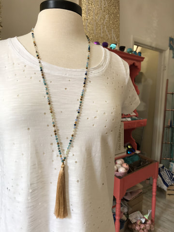 Zarah Tassel Necklace : Gold