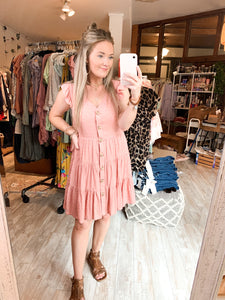Lottie Dress : Dusty Blush