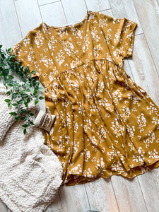 Goldenrod Babydoll Dress
