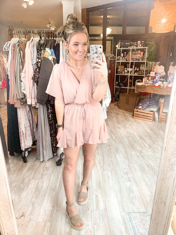 Stick Together Romper : Dusty Blush