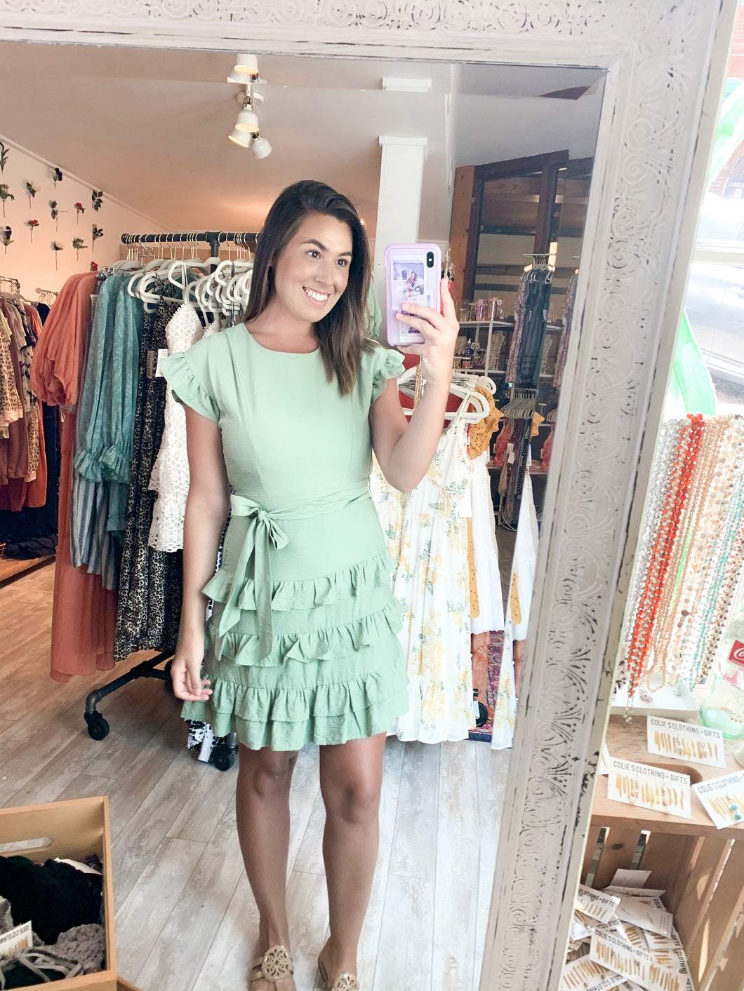 All the Ruffles Mini Dress