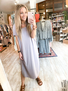 The Weekend Midi Dress : light Lavender