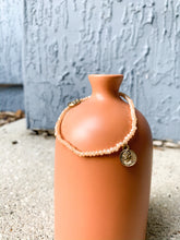 Load image into Gallery viewer, Coin Stretch Bracelet : Peach