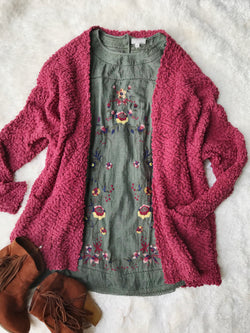 Let's Cuddle Wubby Sweater : Cabernet