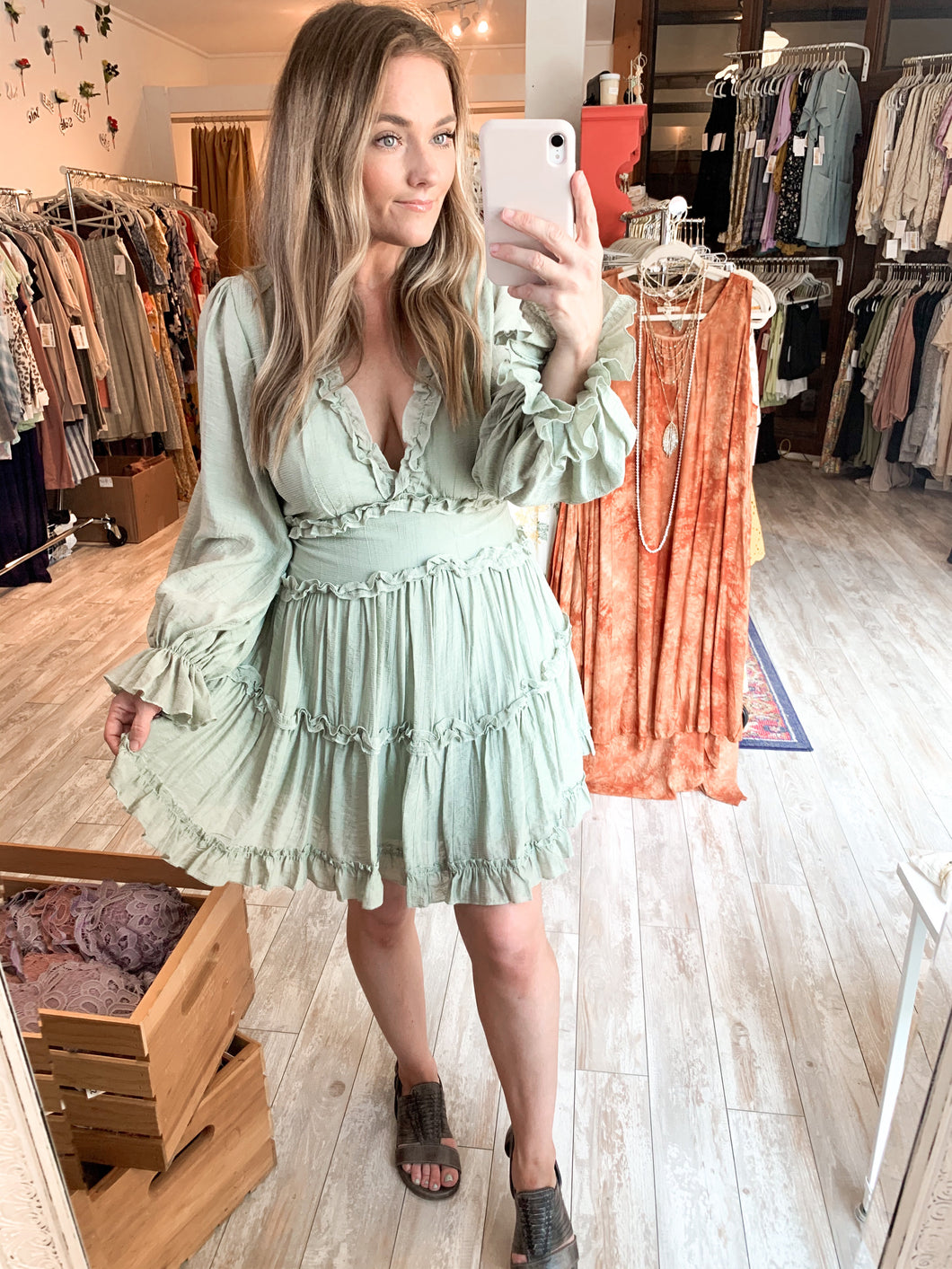 Just Say Yes Dress : Sage