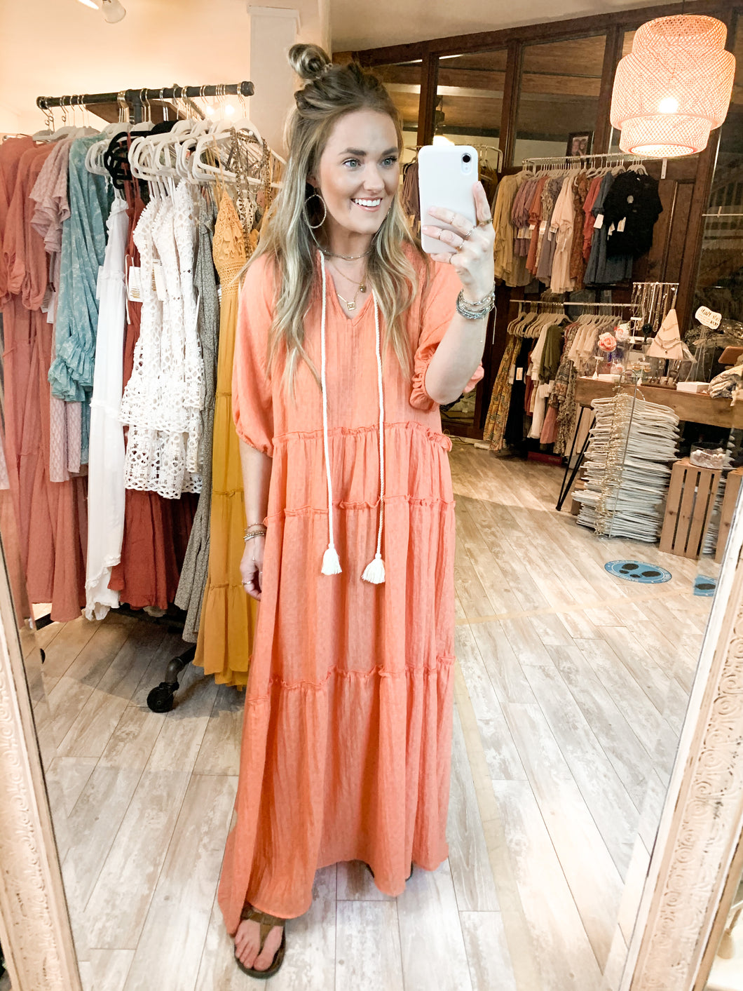 Meredith Maxi : Neon Coral