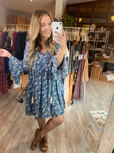She's Blue Swing Dress