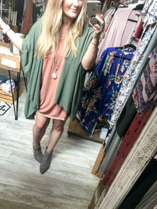 Over The Moon T-Shirt Dress : Army Olive