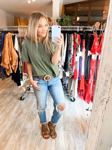 The Fave Burnout Tee : Army