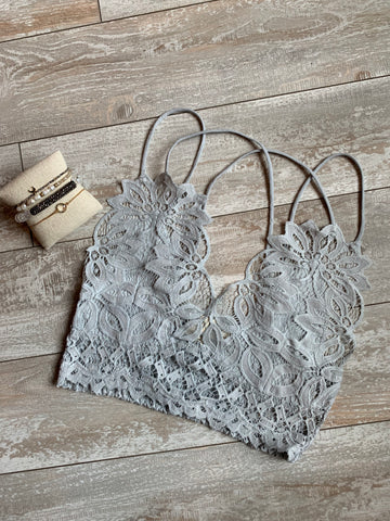 The Delilah Bralette : Ice Grey