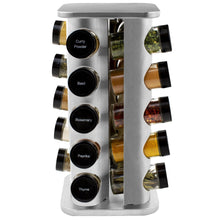 Load image into Gallery viewer, 20 Jar Stainless Steel Spice Rack with Custom Spices - My Spice Racks