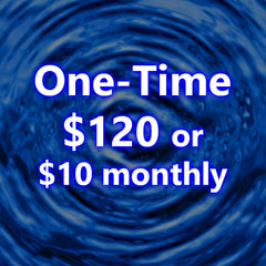 Choose either a one time $120 or on-going $10 Monthly Payment