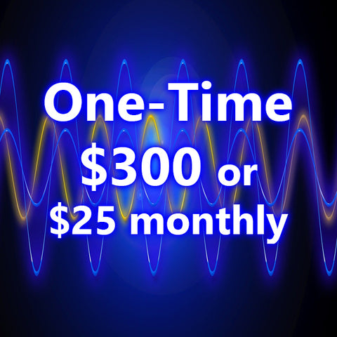 Choose either a one time $300 or on-going $25 Monthly Payment