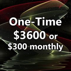 Choose either a one time $3600 or on-going $300 Monthly Payment