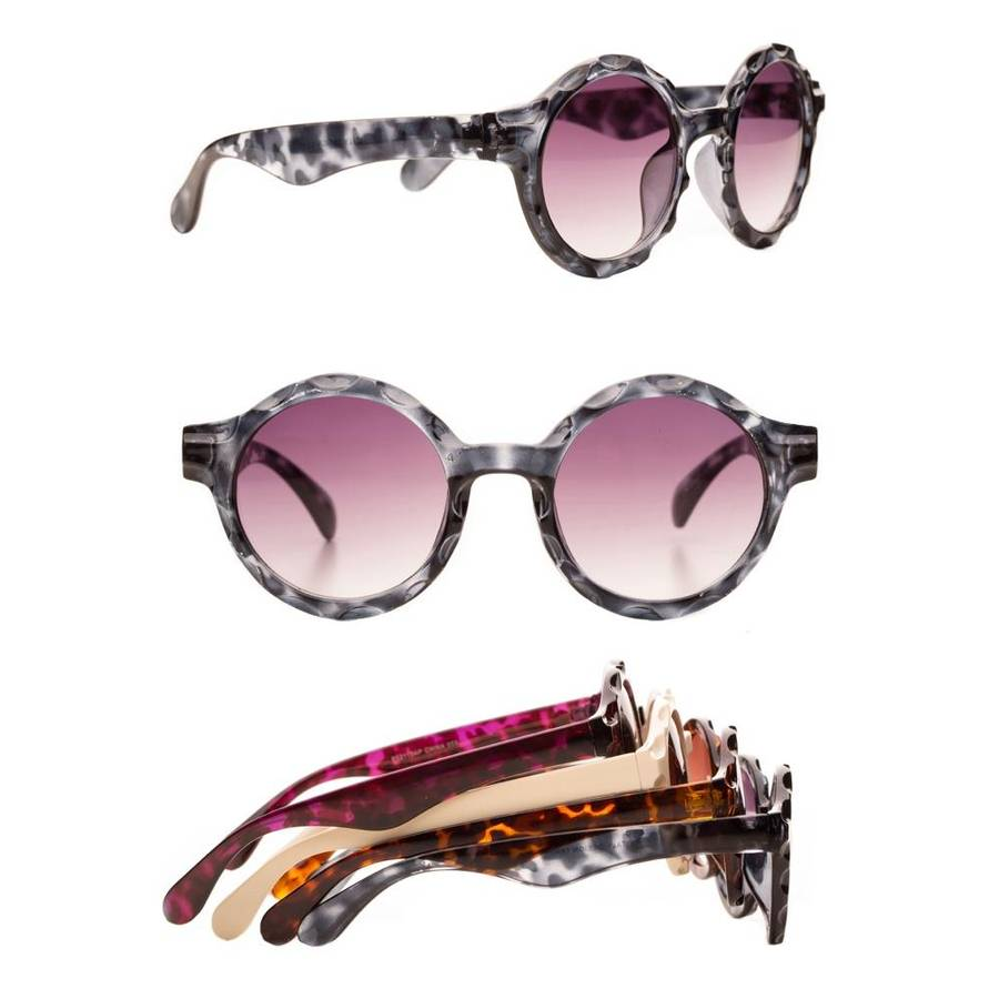 I See Flowers Round Vintage Style Sunglasses - Bernie Dexter