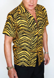 Men's Short Sleeve Shirt in Jungle Tiger print - Bernie Dexter