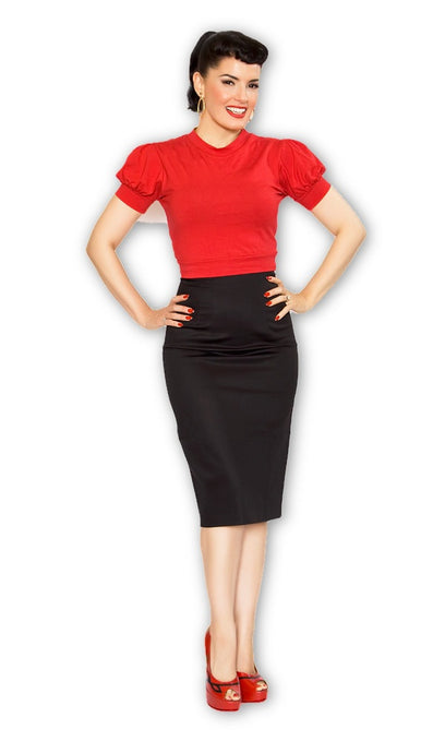 Pencil Skirt in Black - Bernie Dexter