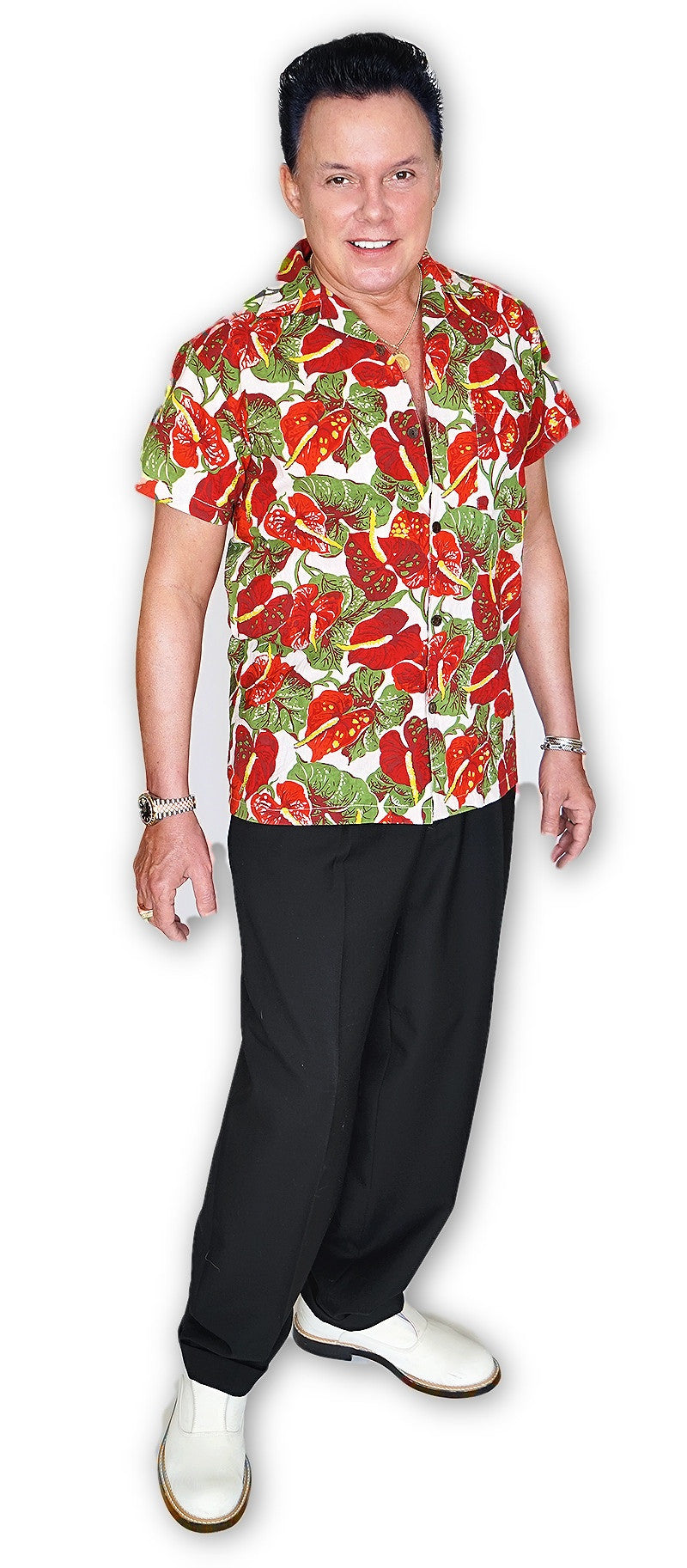 Mens Shirt in Anthurium - Bernie Dexter