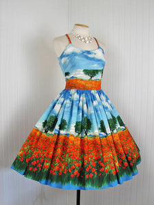 Chelsea Dress in Poppy Field - Bernie Dexter