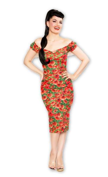 Scarlett Dress in Poppy Print