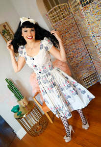 Florence Dress Oodles of Poodles print