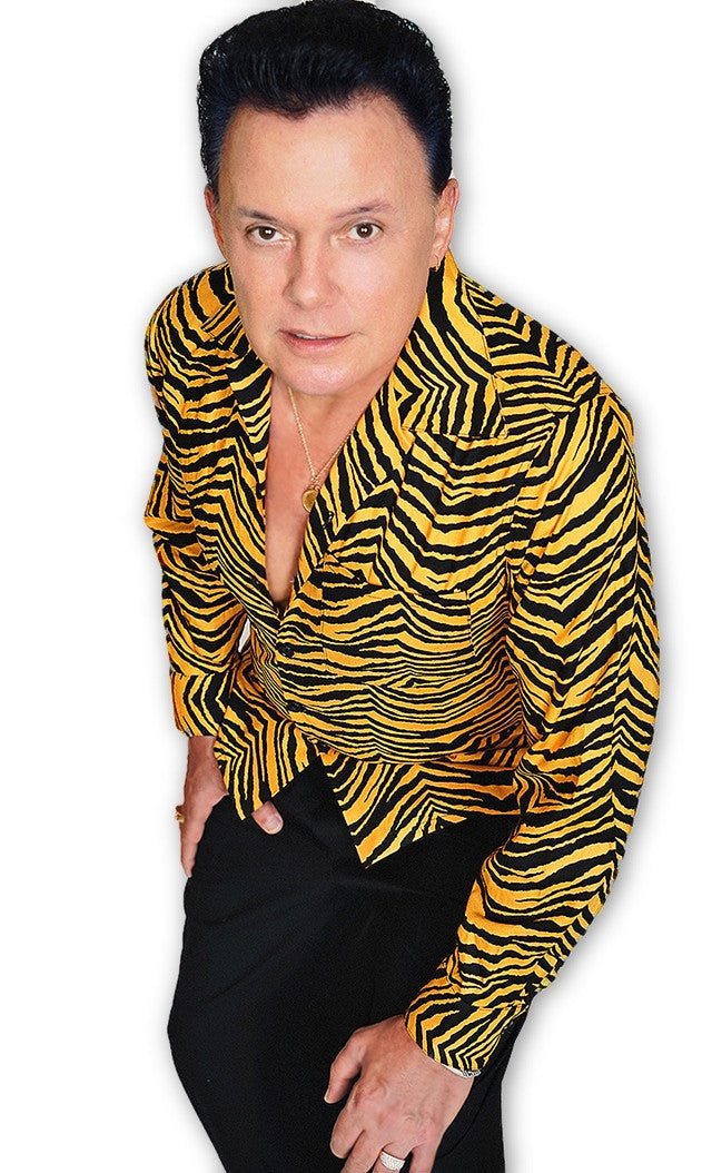 Men's Long Sleeve Shirt in Jungle Tiger print