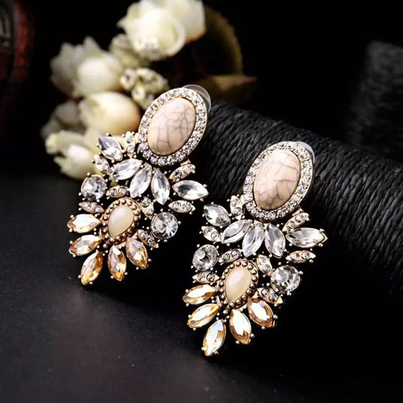 Stylish Marble Earrings-Bijoux Exclusive