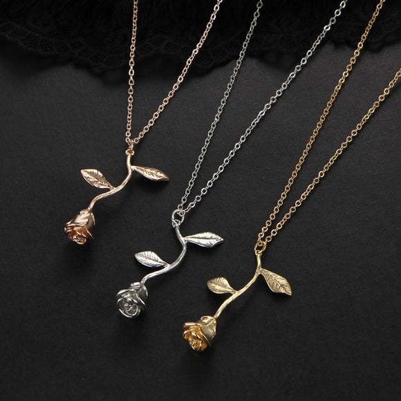 Rose Pendant Necklace-Bijoux Exclusive-Bijoux Exclusive