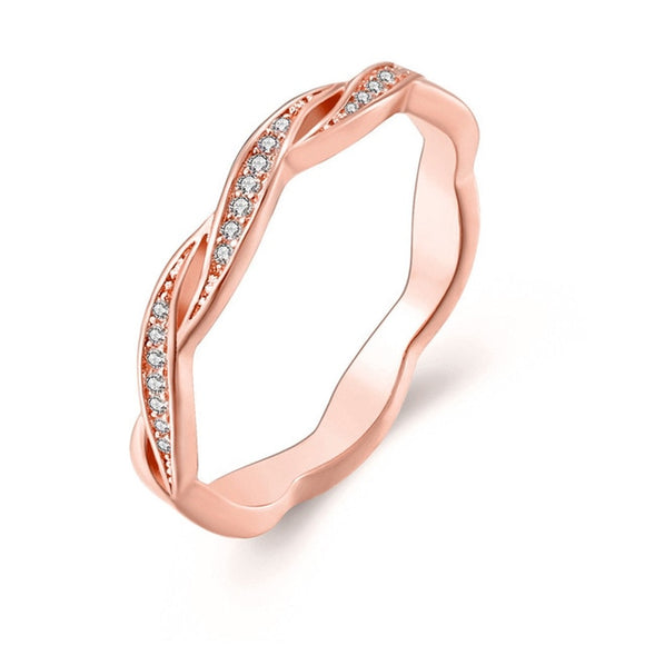 Twist Minimalist Ring-Bijoux Exclusive-6-Rose Gold-Bijoux Exclusive