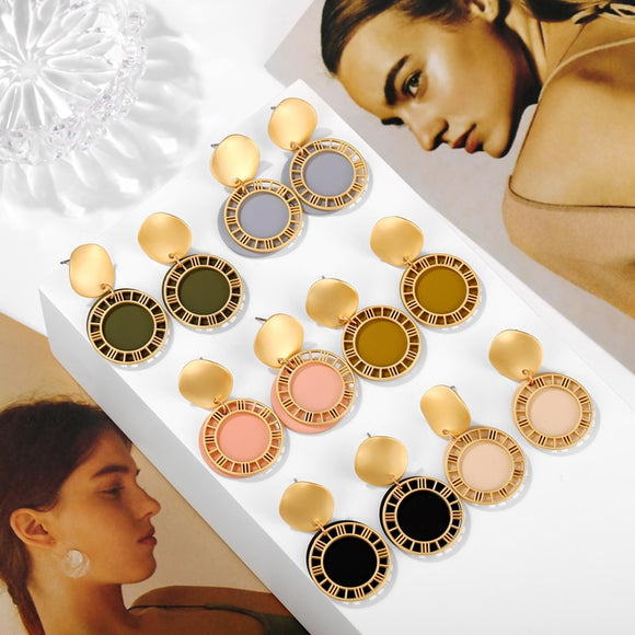 Stylish Round Earrings