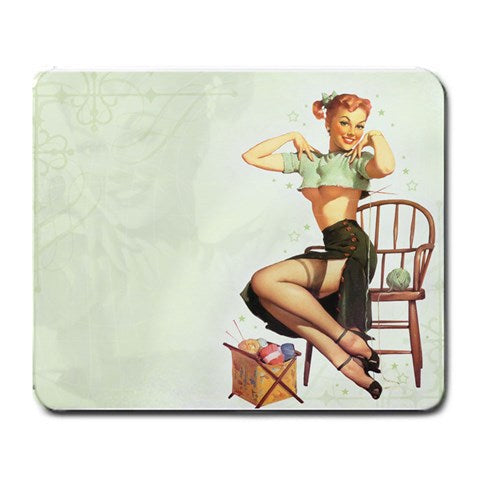 Vintage Classic Pin Up Model Art 1 Mouse Pad